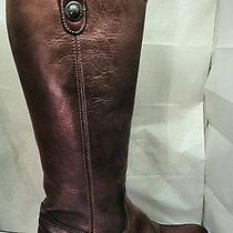 Frye Melissa Button Women's Boots Chestnut Cognac Brown 77167 Sz 7 M Used Photo
