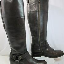 Frye Melissa Harness Leather Inside Zip Tall Riding Boots Dark Brown Sz 8b Euc Photo