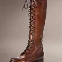 Frye Melissa Lace Up Boots - Cognac Photo