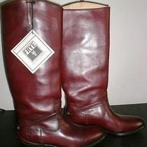 Frye Melissa Lindsay Plate Boots in Redwood - Size 6.5 B  Photo