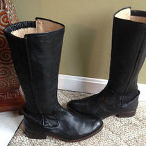 Frye Melissa Scrunch Black Antique Boots Size 10 Worn Once Photo