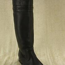 Frye Melissa Trapunto Boots Black Saddle Leather Riding Size 6 358 Womens Photo