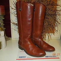 Frye Melissa Women Button Riding Boot Cognac  Leather Size 9 1/2 Great Condition Photo