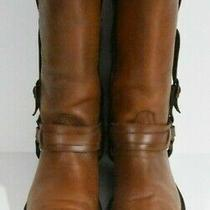 Frye Men 9 D Harness Brown Western Leather Classic Boots Photo