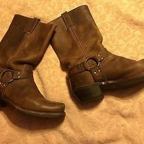 Frye Men's 9 Womens 11mens Harness Boot Hardly Worn Brown Mid Calf Photo