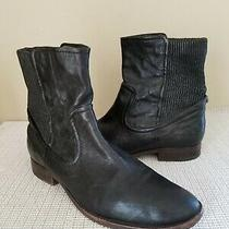 Frye Mens Black Leather Pull on Ankle Boots Size 9 Photo