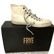 Frye Men's Brett High Fashion Sneaker White Vintage Style Size 8 Photo