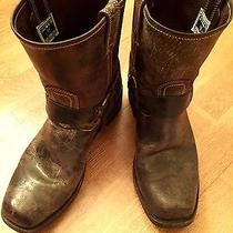 Frye Men's Smith Harness Boot 10.5 in Distressed Chocolate.  No Reserve. Photo