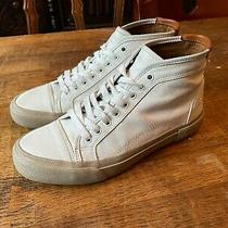 Frye Men's White Leather Sneakers High Size 8.5m Photo