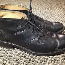 Frye Mens Black Leather Ankle Boots Size 10.5 D Photo