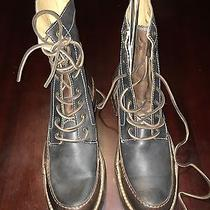 Frye Mens Lace Up Boot Brown/black Leather Size 9 Photo