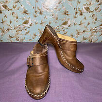 Frye Mules Clogs Charlotte Ring Sz 8 Womens Boots Brown Leather Slip-on Western Photo
