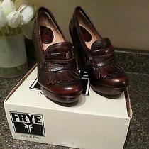 Frye Naiya Kiltie Heels / Loafers / Platform Shoes - Ombre Dark Brown - Size 6  Photo