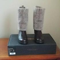 Frye Natalie Cuff Lug Boot Size 8.5 M Photo
