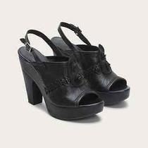 Frye New 'Anya Concho Sling' Clog Nib Platform Sandal Mule Leather Black 9 Photo