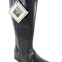 Frye New in Box Melissa Button Womens Size 10 Extended Calf Black Leather Boots Photo