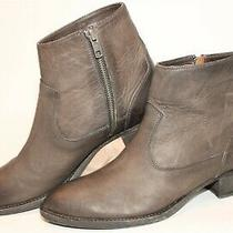 Frye New Womens Size 9 B Brooke Short Inside Zip Leather Ankle Boots 3476697-Smk Photo