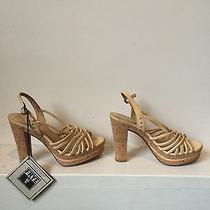 Frye Off White Platform Sandals Size 9 Photo