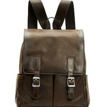 Frye Oliver Leather Backpack Dark Brown 100% Leather Photo
