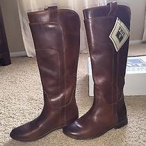 Frye Paige Boots Cognac Size 7.5 Photo