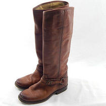 Frye Phillip Ring Women's Tall Harness Brown Boot 7m Photo