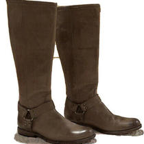 Frye Phillips Harness Boots Grey Photo
