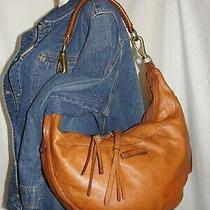 Frye Purse Whiskey Brown Leather Jenny Hobo Zippered Shoulder Bag Handbag Photo