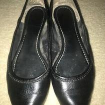 Frye Regina Flats Women's Size 7.5 Pointed Toe Black Leather Photo