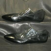 Frye Regina Women's Black Smooth Glove Leather Flat Pump Shoes Size Us 7m  Photo