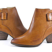 Frye Reina Belt Bootie Camel Leather Fashion Ankle Boots Shoes 8.5 New Photo