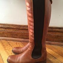 Frye Riding Chelsea Boots Cognac Size 9.5 Photo