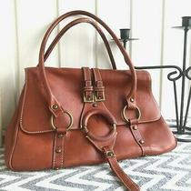 Frye Ring Cognac Leather Purse Shoulder Bag Photo