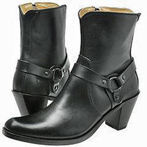 Frye Romy Ring Ladies Black Harness Engineer Ankle Boots New/ Box Sz 9.5 Photo