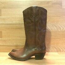 Frye Shane Embroidered Tall Women's Mid Calf Western Boots Sz 8 M (B-11) Photo