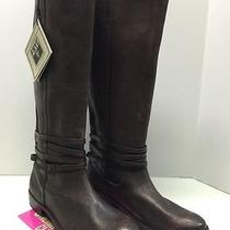 Frye Shirley Riding Plate Boot in Dark Brown Size 9.5 Photo