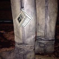 Frye Shirley Riding Plate Boots Stone Distressed Photo