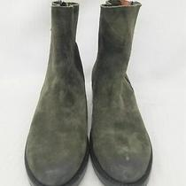 Frye Size 8b Womens Green Leather Zipper Boots Photo