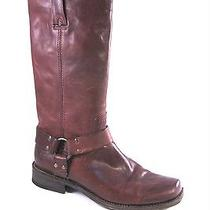 Frye Smith Harness Tall Boot in Brown Leather Size 9 368 Photo