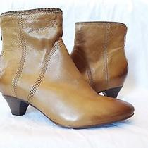 Frye Steffi Zip Camel Tan Ankle Bootie Shoes Womens 8.5 New 278 Photo