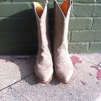 Frye Suede Leather Cowboy Boots Cowgirl Size 10 Amazing Condition Photo