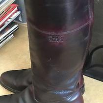 Frye Tall Riding Boots Antique  Maroon  Color Photo