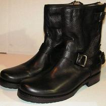 Frye Veronica Back Zip Short Leather Boot  Size 9.5 B  Black Photo