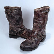 Frye 'Veronica' Short Boot- Vintage Antiqued Chocolate- Size 6.5 B  Photo