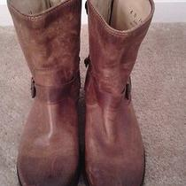 Frye Veronica Short Cognac Leather Boots 6 Photo
