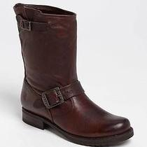 Frye Veronica Shortie Slouchy Leather Moto Boots Brown Sz 6.5 Worn Once Photo