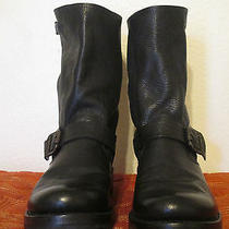 Frye Veronica Slouch 77605 Black Tumbled Leather Slouch Boots Size 9 Photo