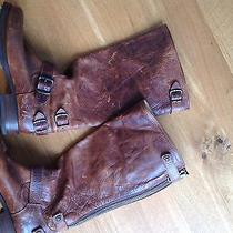 Frye Veronica Slouch Antiqued Boots Mint 9.5  Photo