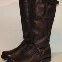 Frye 'Veronica Slouch' Leather Engineer Boot  Size 7 B  Brown Photo