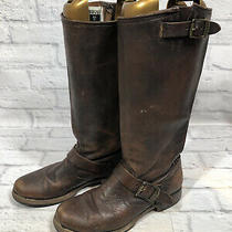 Frye Veronica Slouch Womens Sz 8 B Brown Distressed Leather Buckle Boots N3r Photo