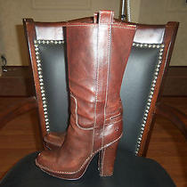 Frye Victoria Mid Calf Boots in Whiskey Brown 10m Euc Photo